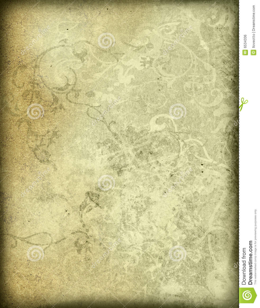 old style paper template