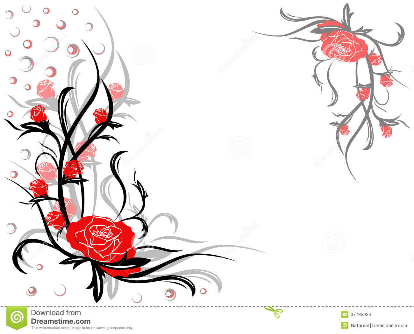 swirly roses background bouquet - photo #1