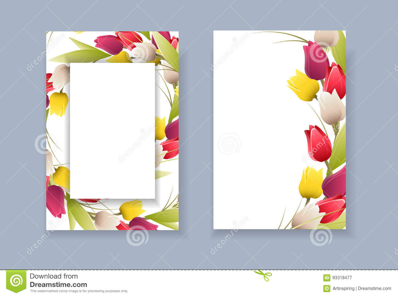 floral template frame stock vector illustration of cute 93318477