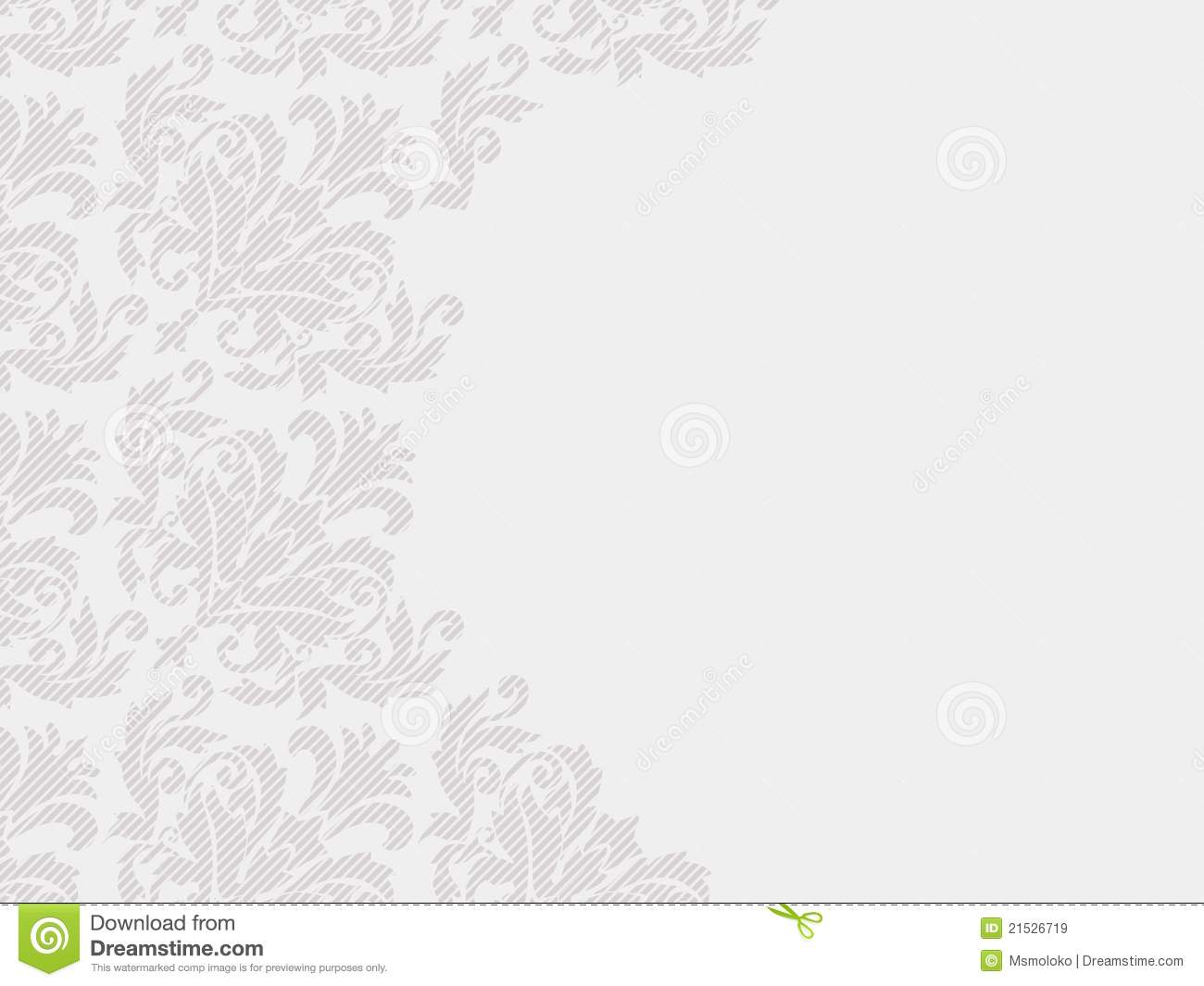 Textured Paper For Wedding Invitations: Floral Textured Wedding Invitation Stock Vector