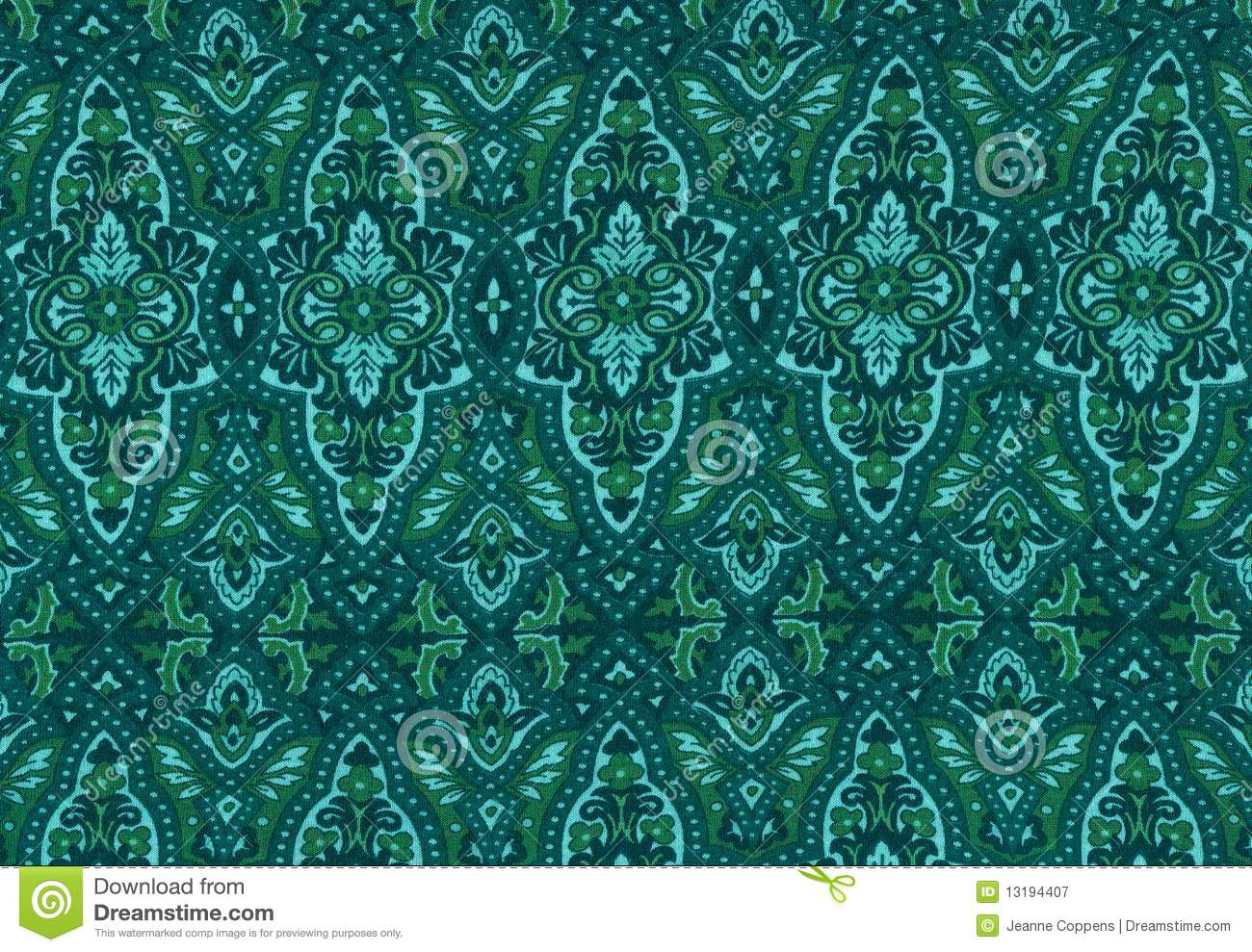 Floral Turquoise Background Stock Image Image Of