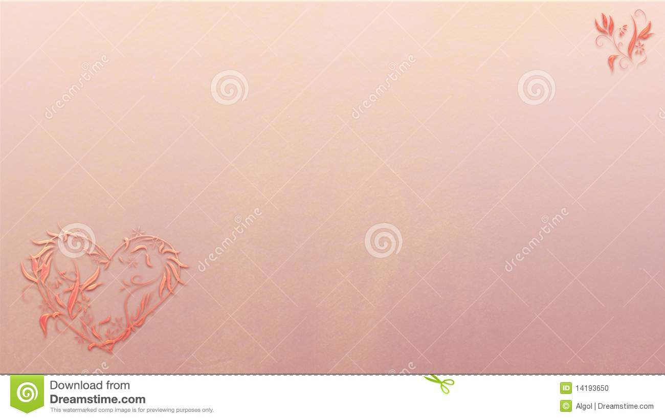 Floral Valentine Heart Background In Business Card Stock