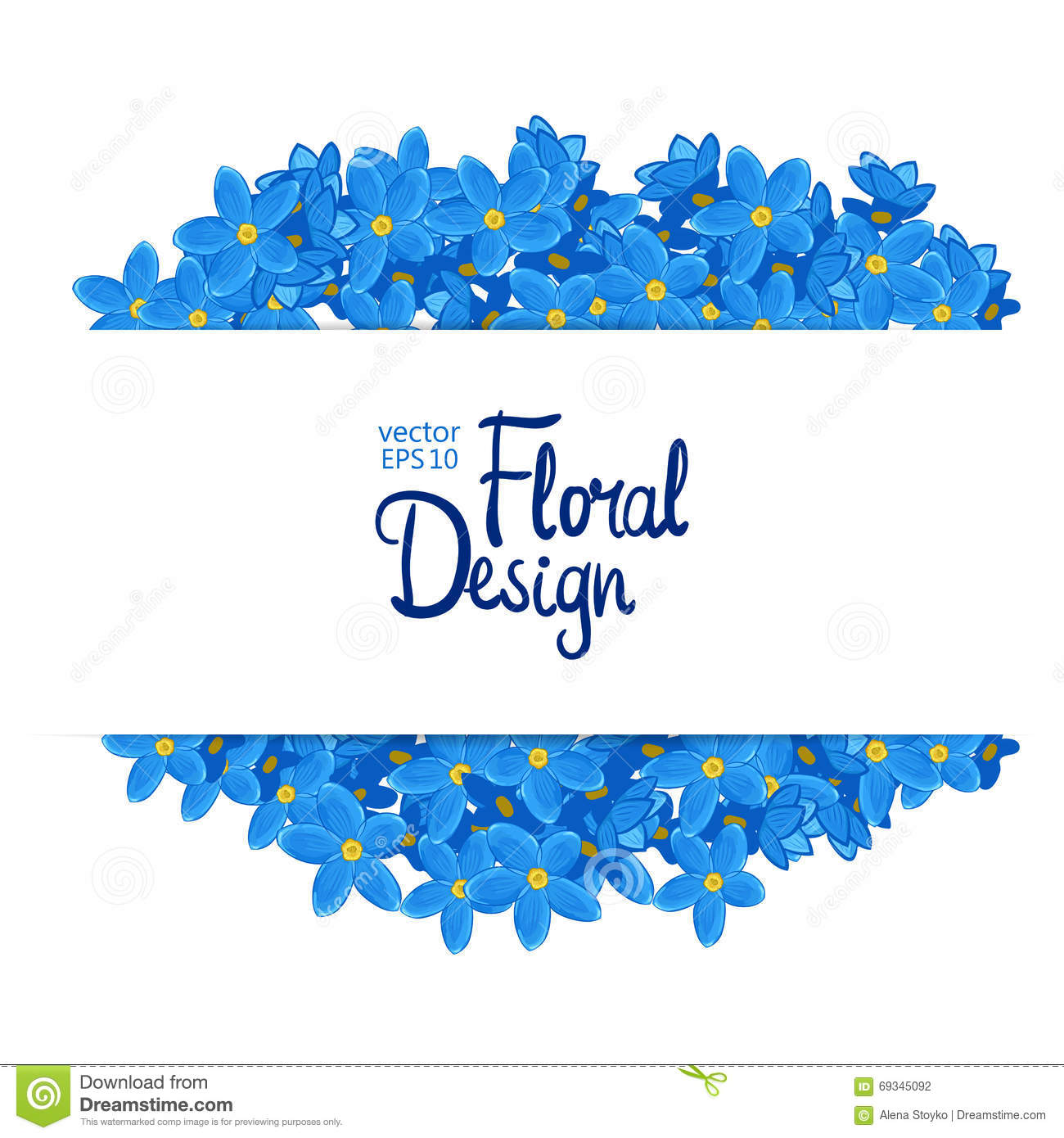 Floral Vector Border Stock Vector Illustration Of Save
