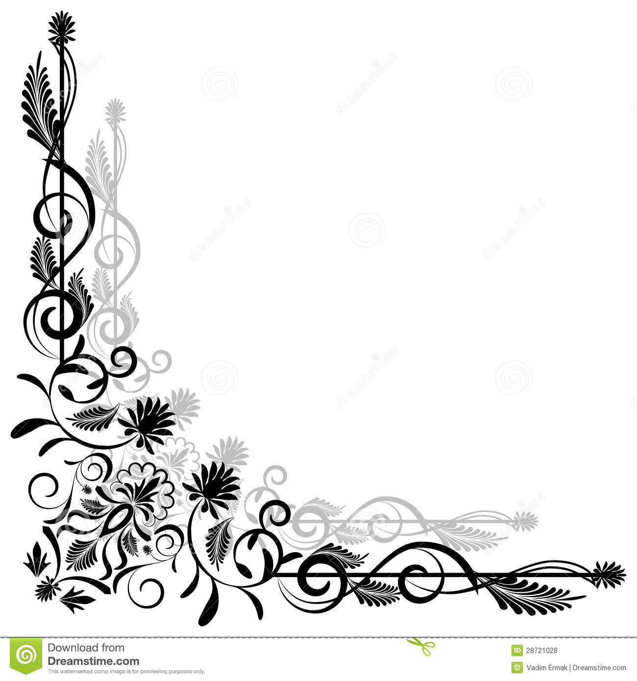 floral vector corner stock vector illustration of corner 28721028 dreamstime com