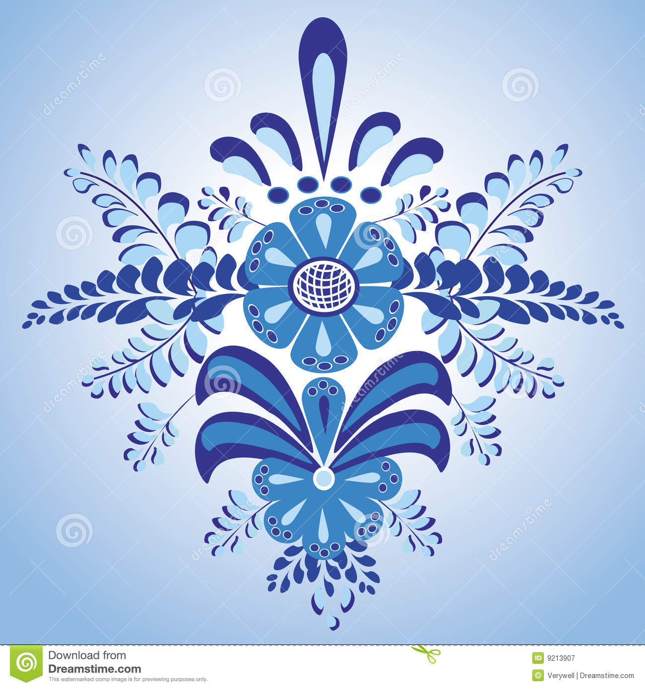 Floral vector design pattern