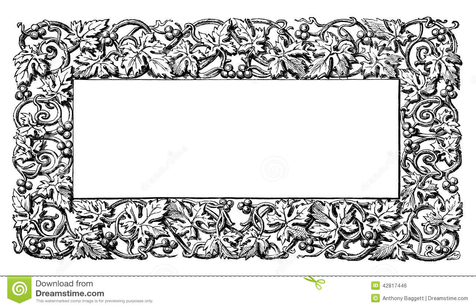 floral vine pattern frame