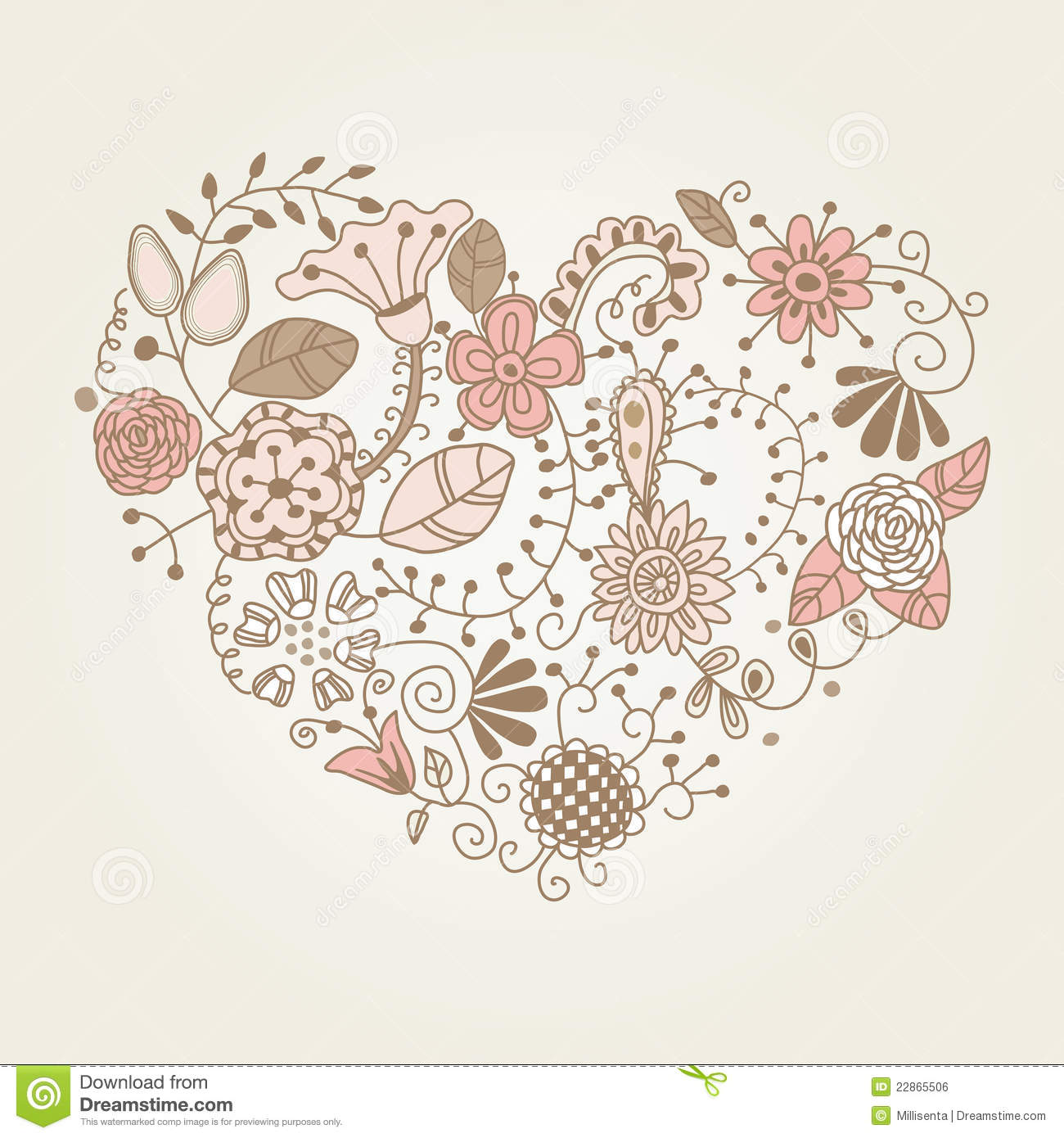 Decorative frames set download free vector art stock graphics - Floral Vintage Heart Shape Royalty Free Stock Image