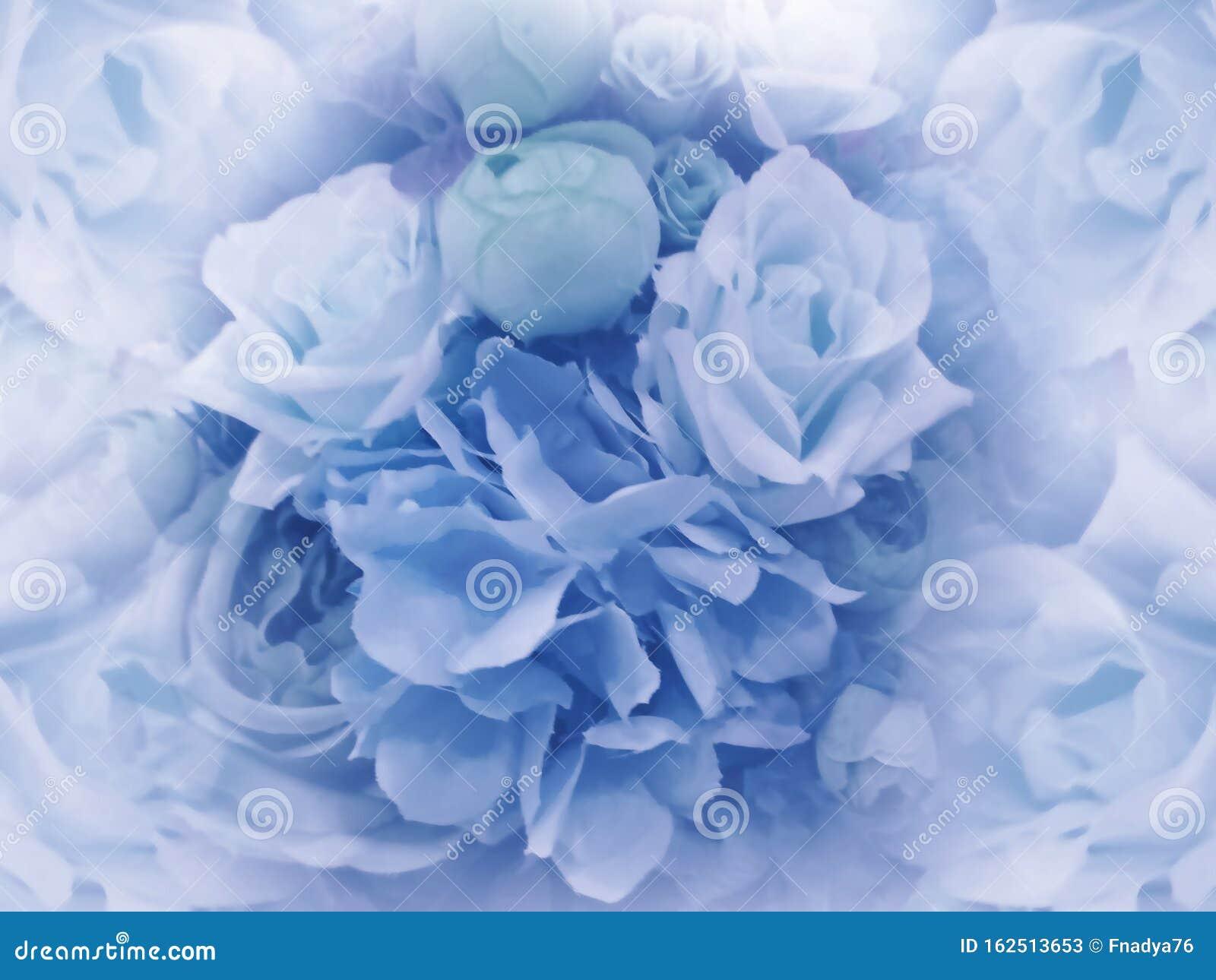 Floral Vintage Light Blue Background Wallpapers Of Flowers Light