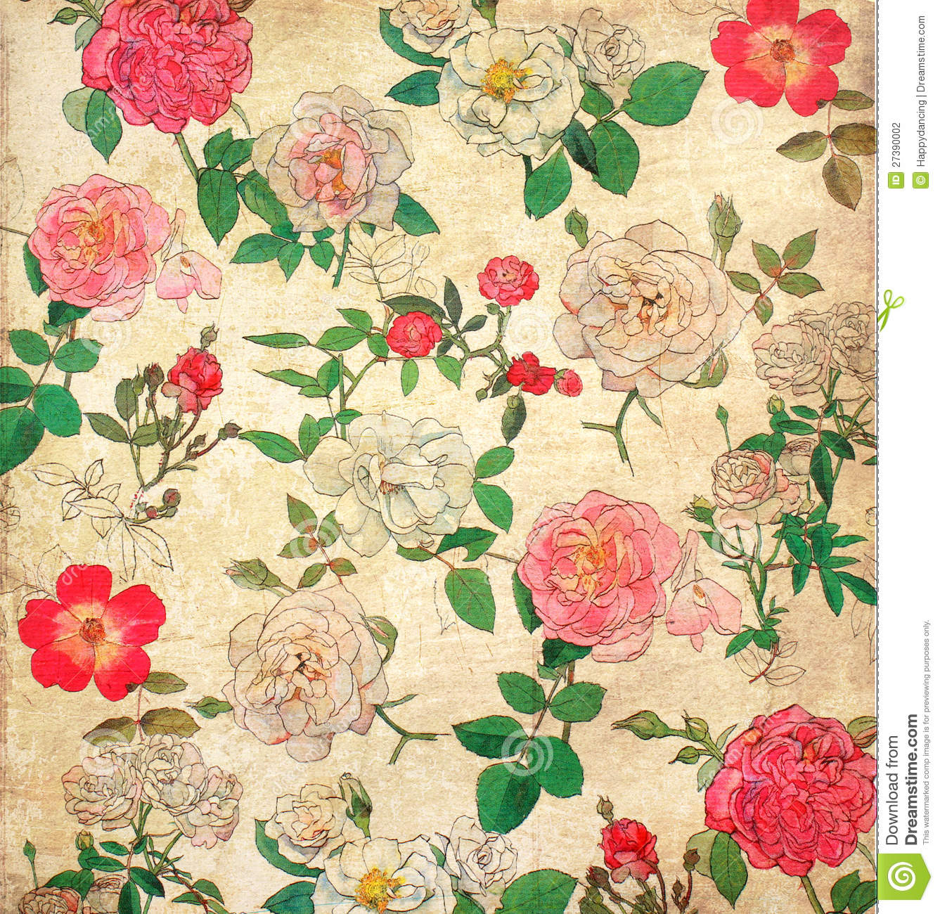 Floral Vintage Wallpaper Stock Photo Image Of Floral 27390002
