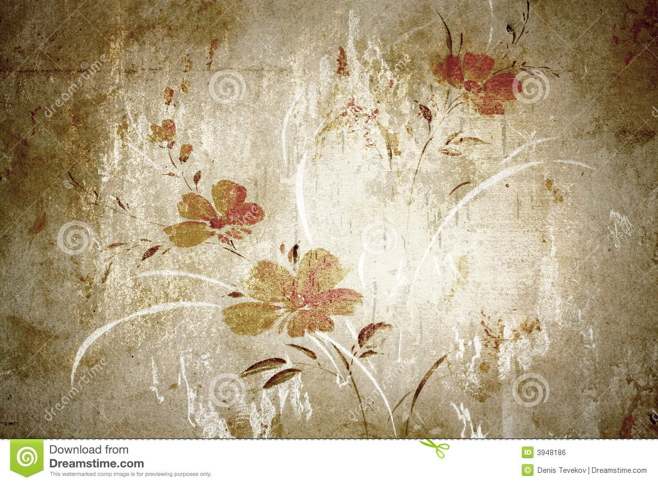 Floral Vintage Wallpaper Stock Photo Image Of Background 3948186