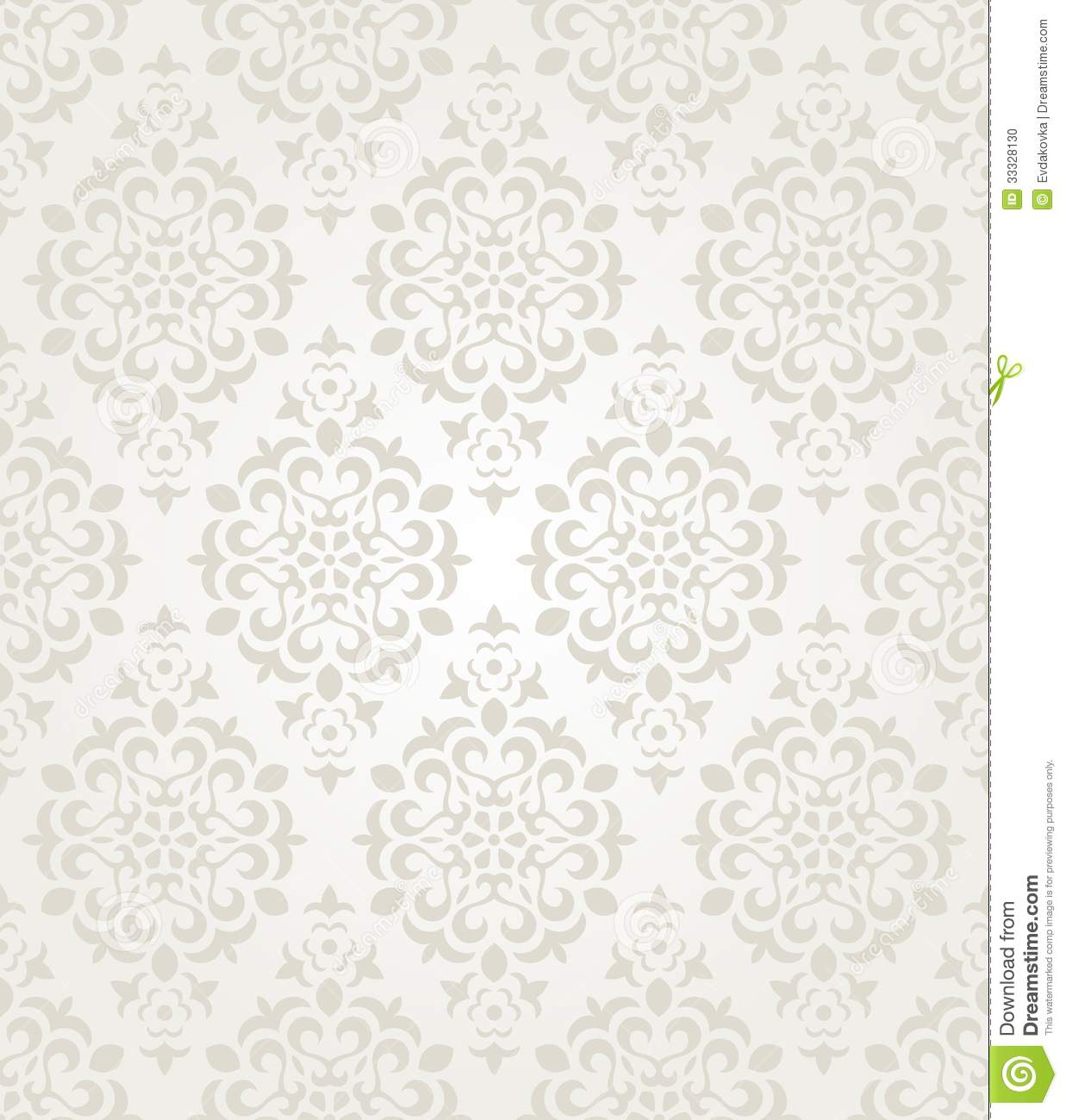 Seamless Vintage Wallpaper Pattern On Paper ...