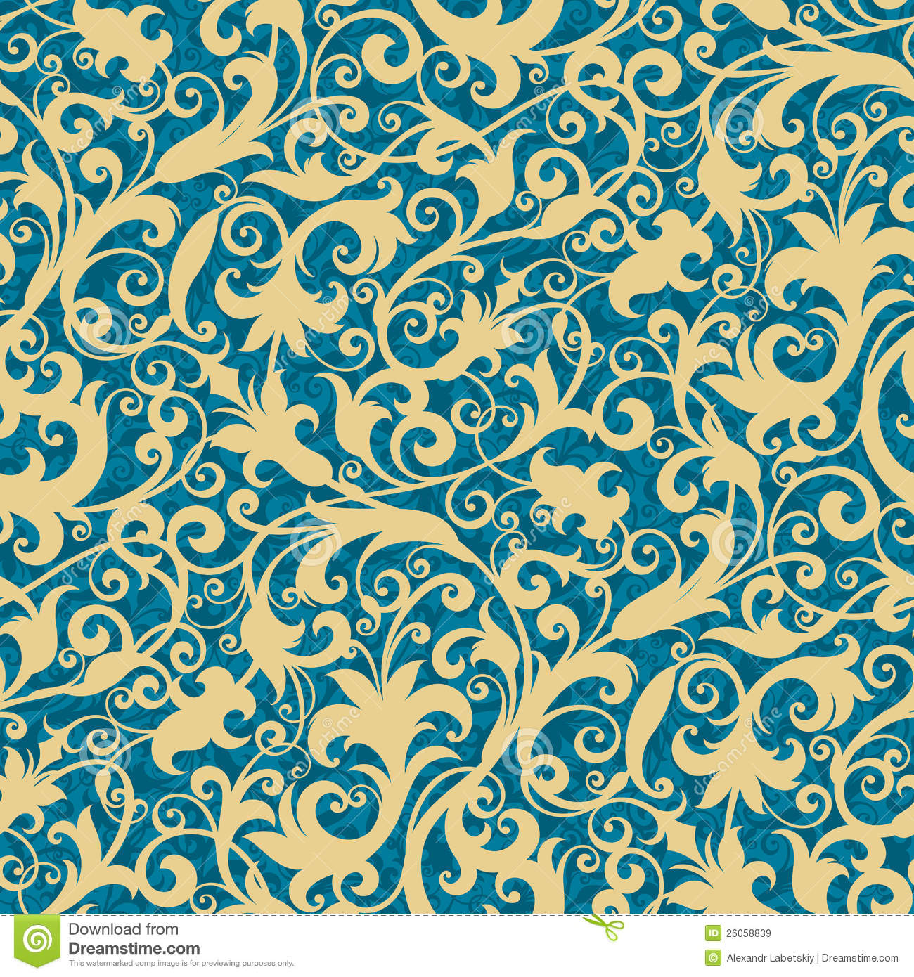 Floral Wallpaper Stock Vector Illustration Of Repeating