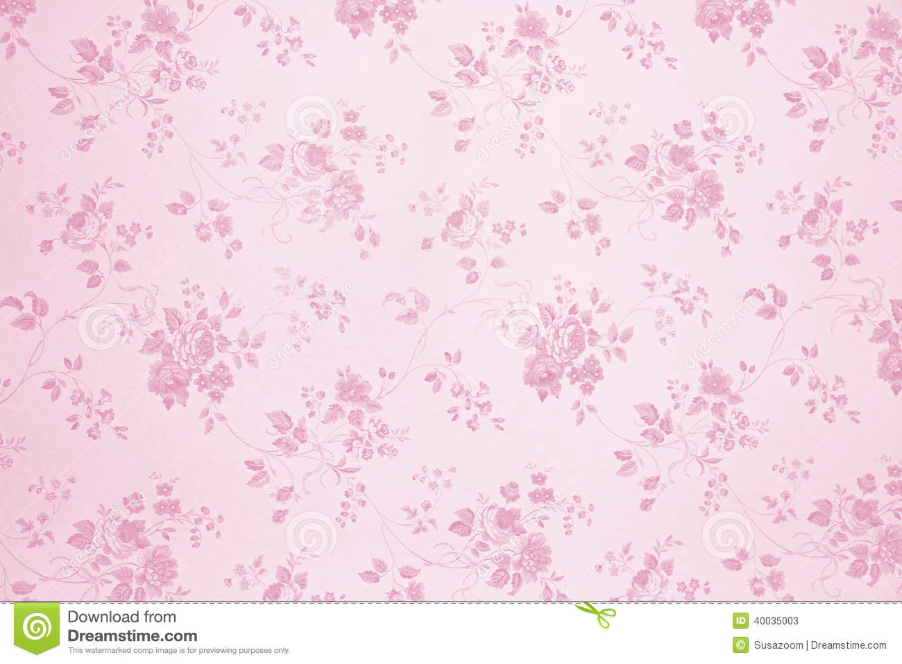 Floral Wallpaper Light Pink Stock Image Image Of Toned Pink