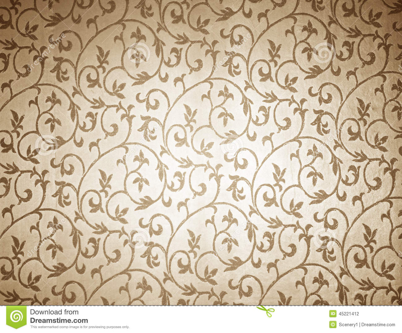 Floral Wallpaper Stock Photo. Image Of Border, Background