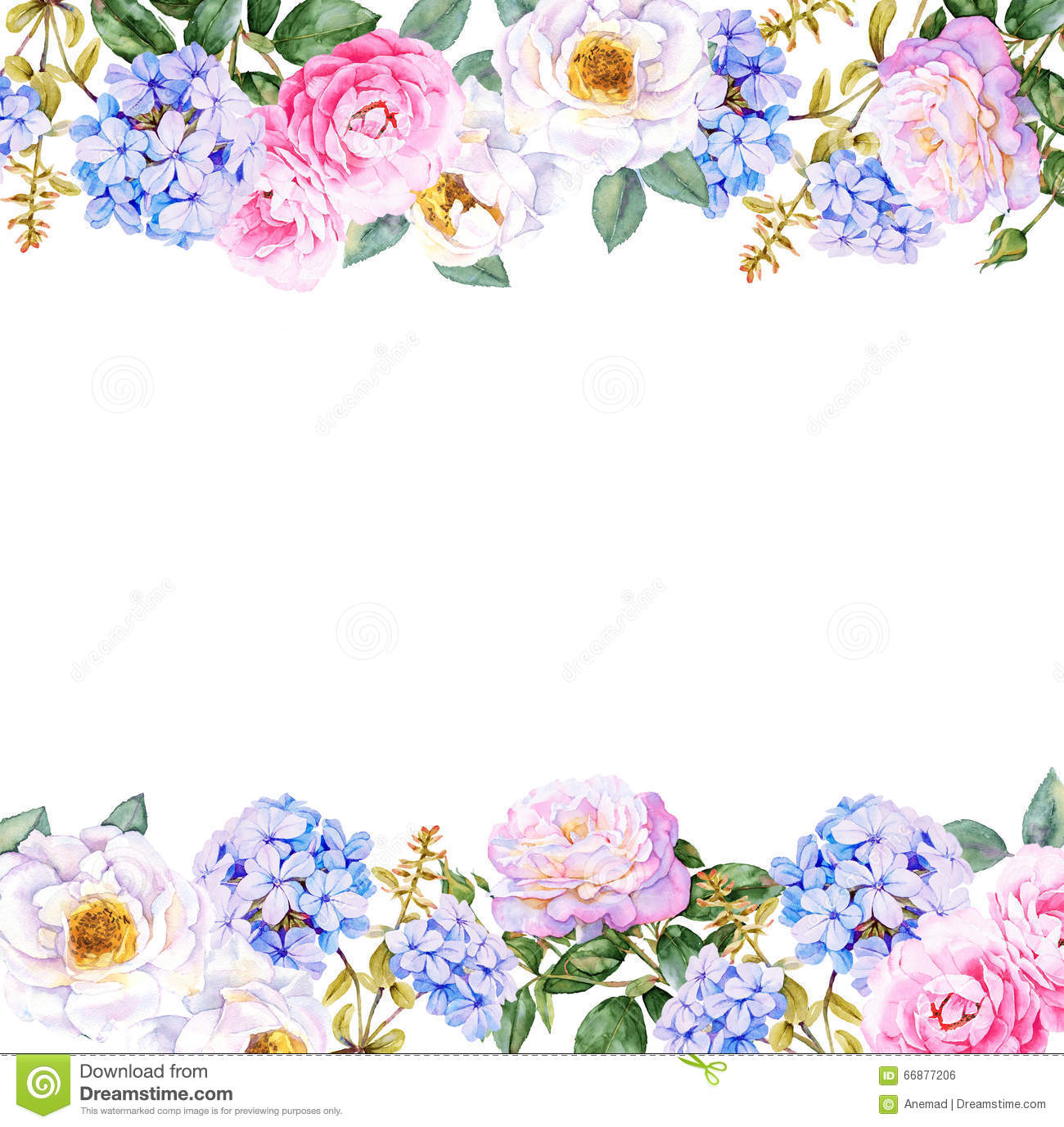 Floral Watercolor Background Stock Illustration Illustration Of