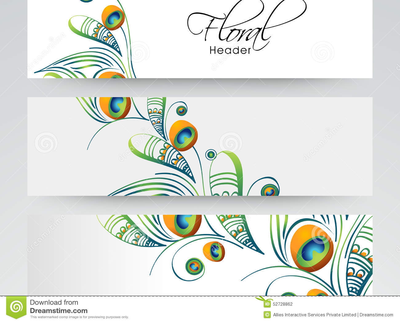 Floral website header or banner design stock photo for Free online drawing websites