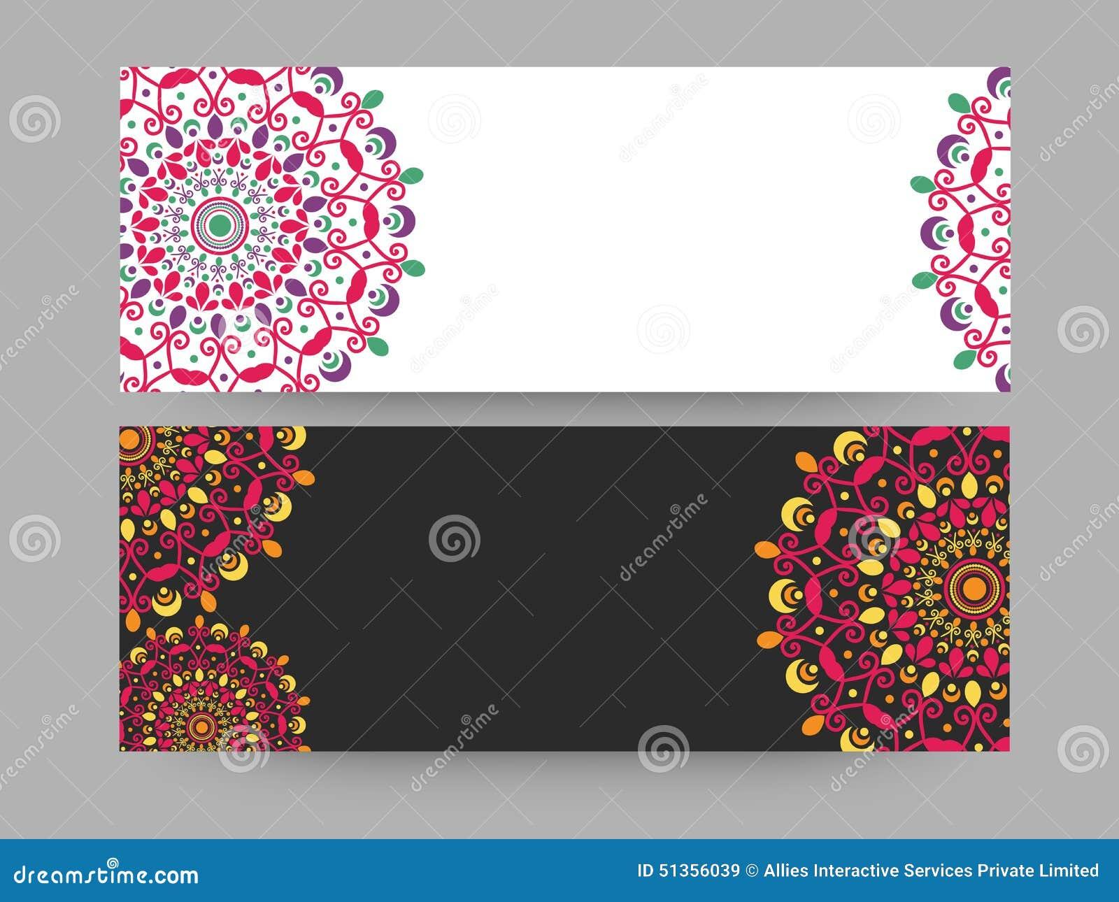 Floral website header or banner set.