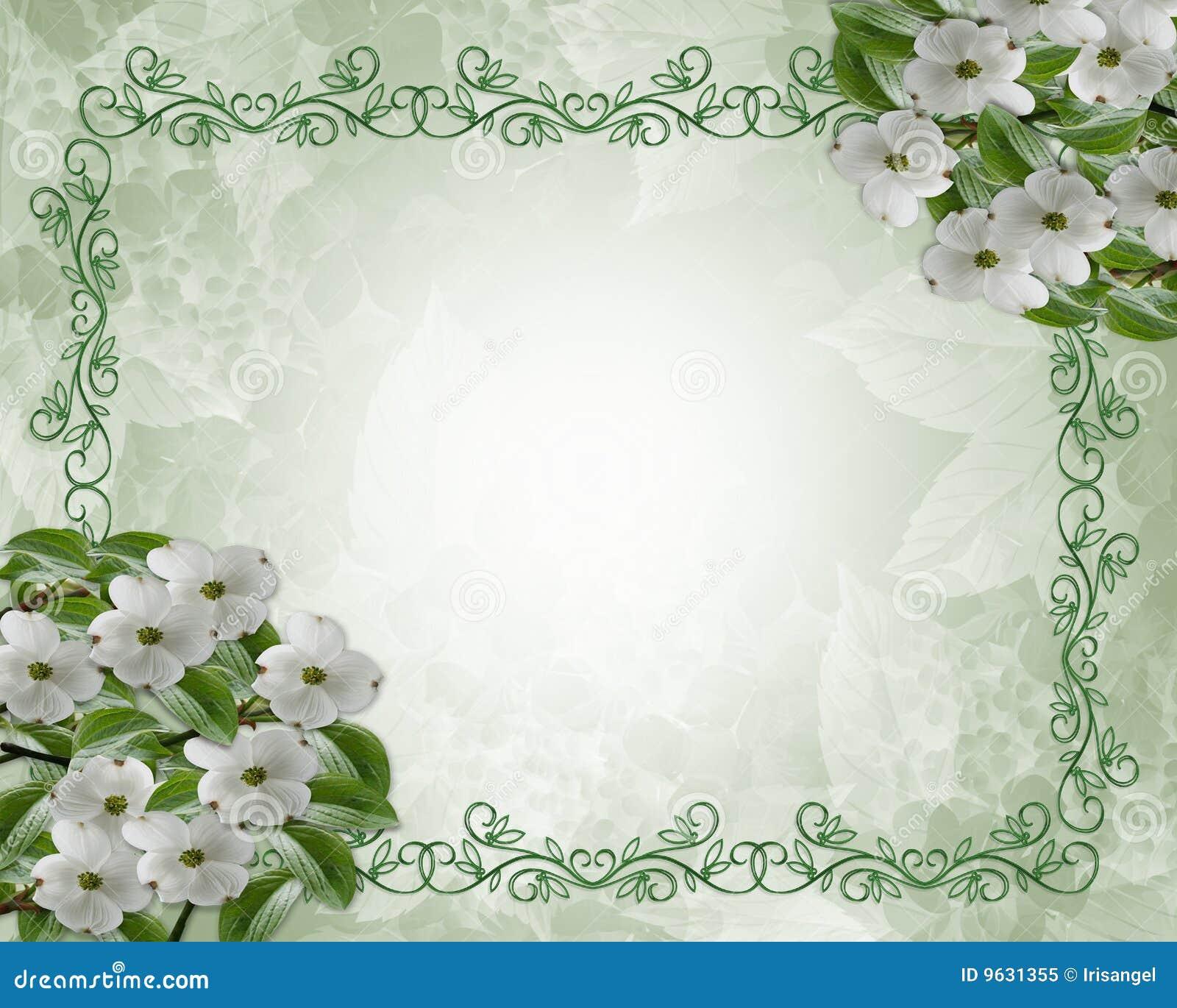 Wedding Flower Borders: Floral Wedding Border Dogwood Royalty Free Stock Photo