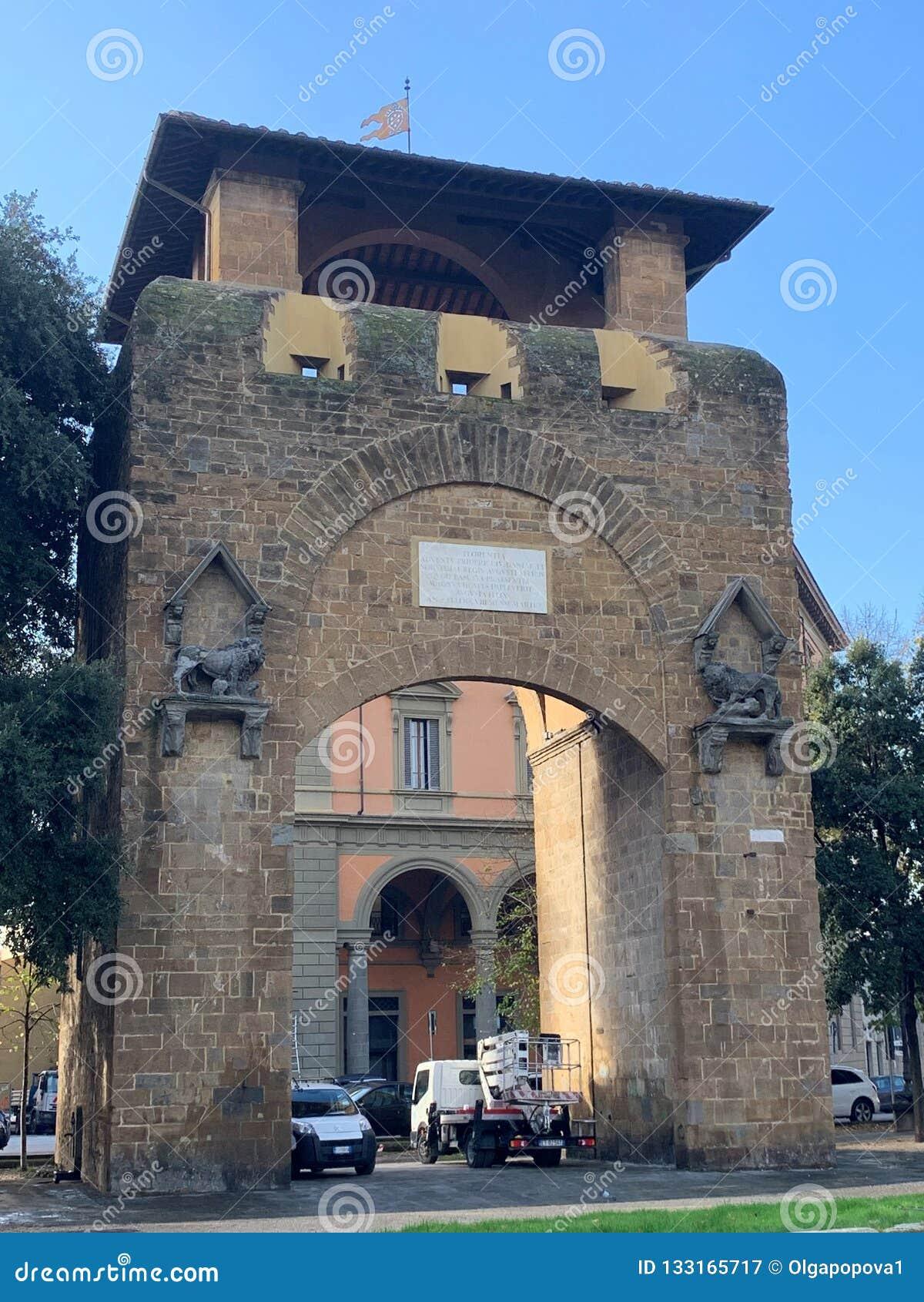 Florença Toscânia Italy Porta San Gallo no della Liberta da praça