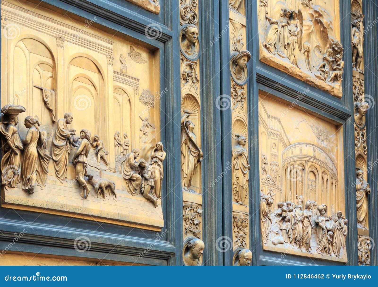 Florence Cathedral Gates del frammento di paradiso, Toscana, Italia