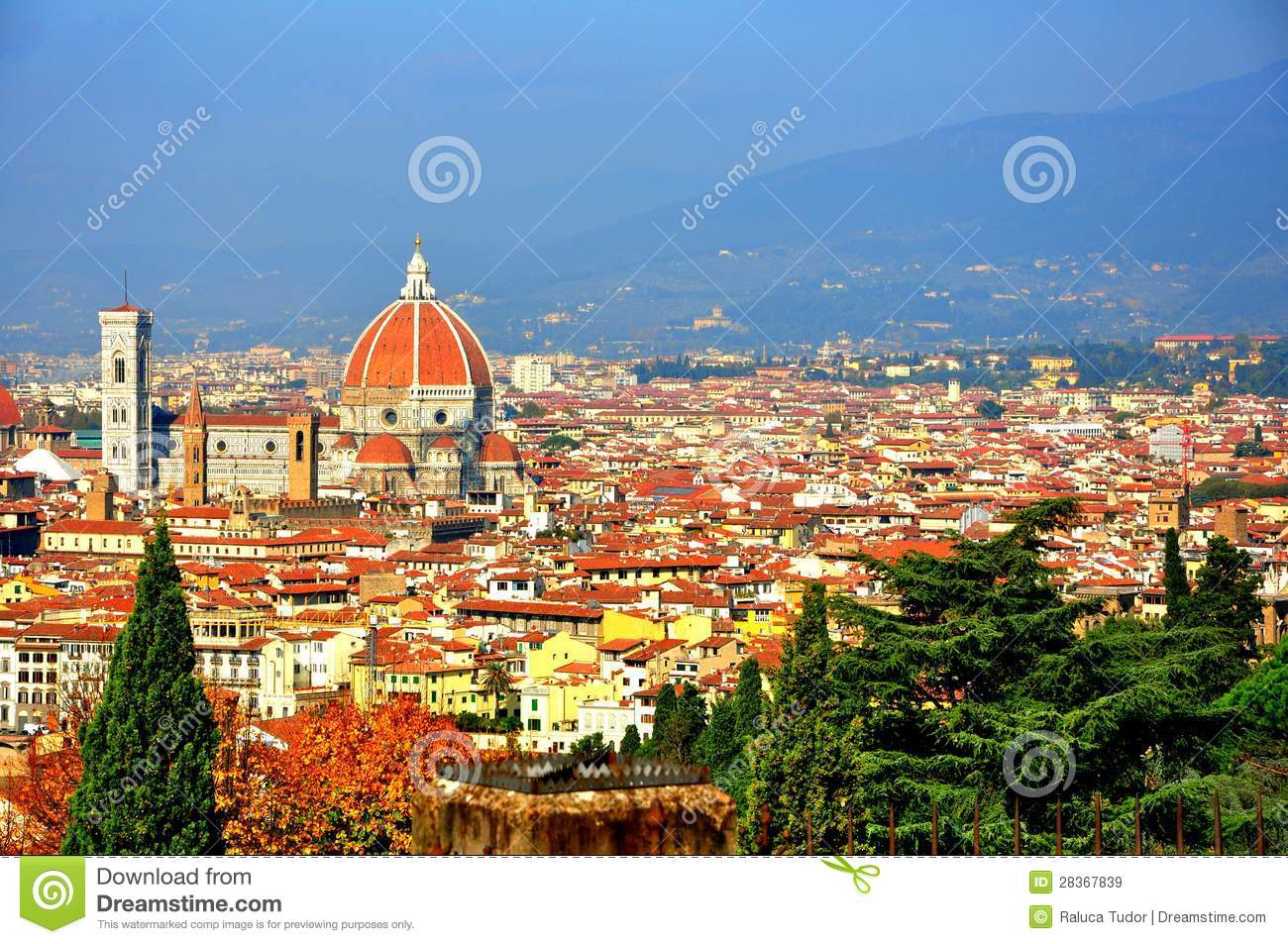 City Of Florence: Florence City Panoramic View , Italy Royalty Free Stock