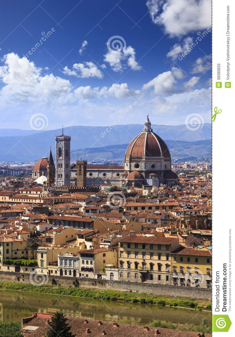 Florence City Roofs Duomo Vertical