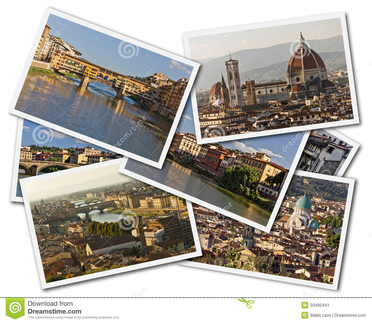Download Florence Collage stock image. Image of postcards, church - 33490441