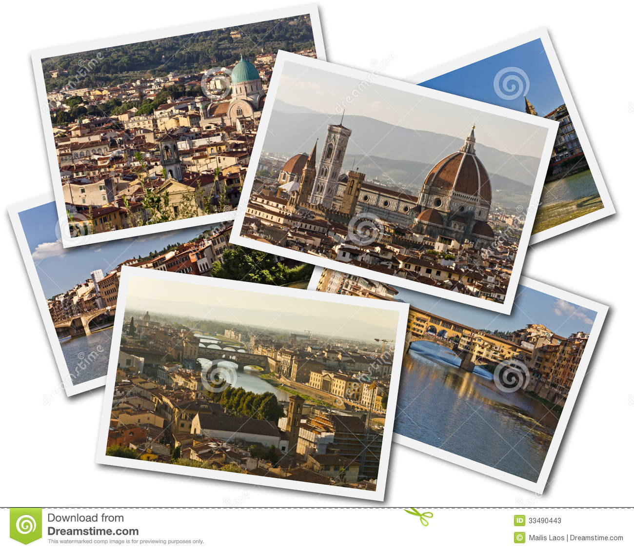 Download Florence Collage stock image. Image of roofs, roman, culture - 33490443
