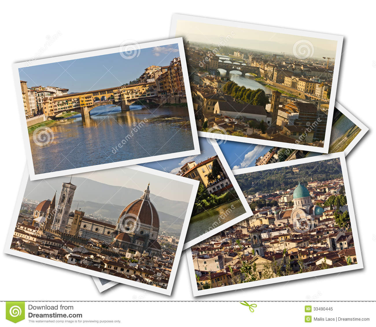 Download Florence Collage stock image. Image of ancient, rooftops - 33490445