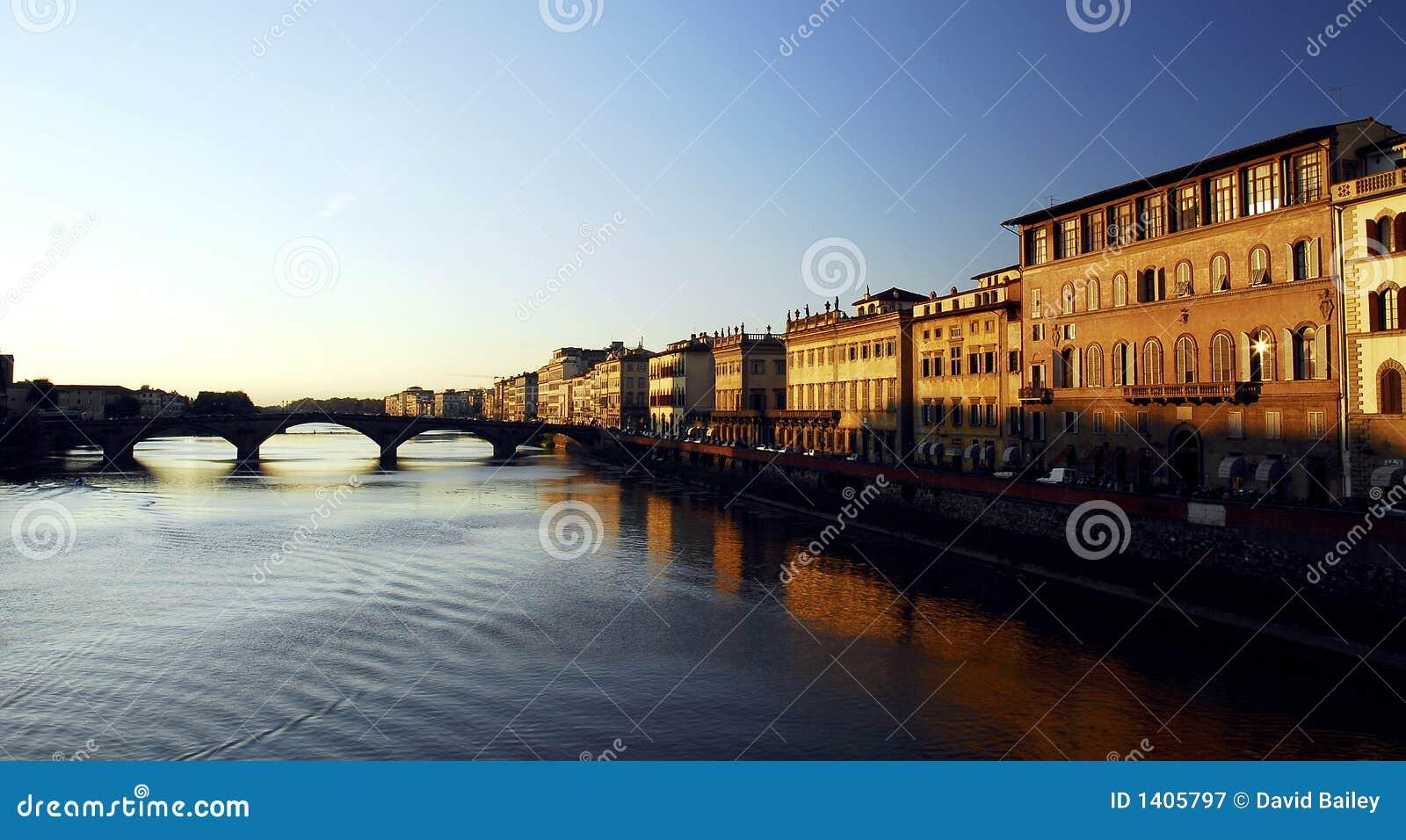 Florence - coucher du soleil