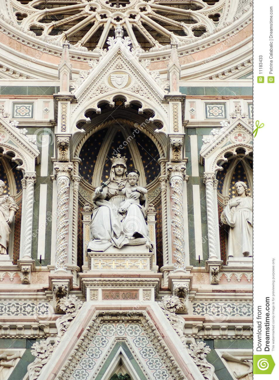 Florence Dome: Florence Dome Detail Stock Image. Image Of Tourism