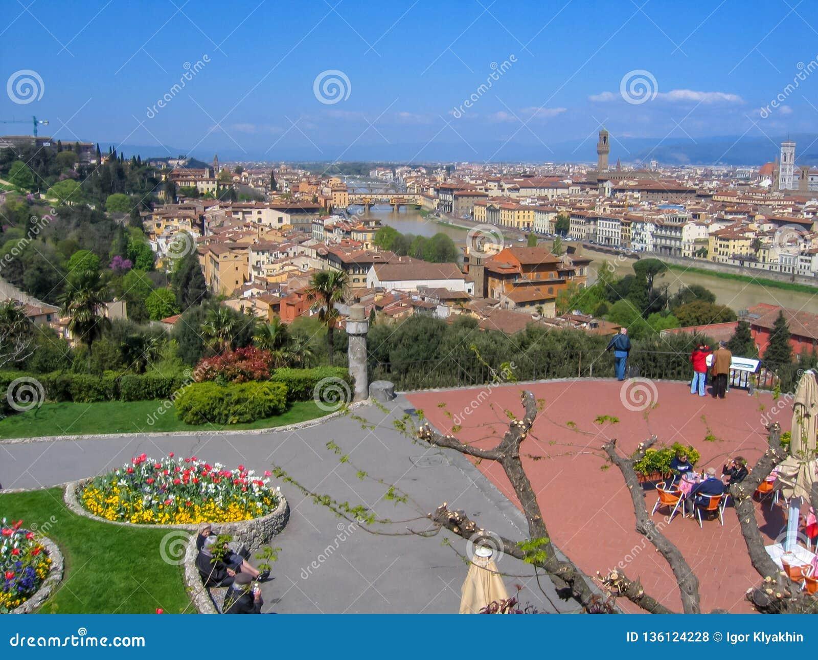 Florence Firenze cityscape, Italien