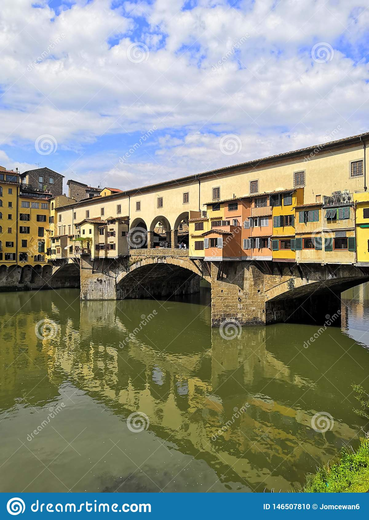 Florence Italy City water river spring travel buildings Firenze reflection colour