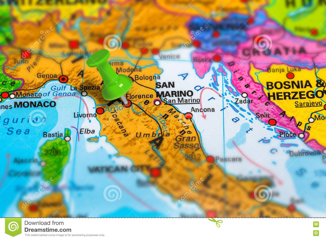 Map Of Italy Showing Florence.Florence Italy Map Stock Image Image Of Landmark Closeup 80955903