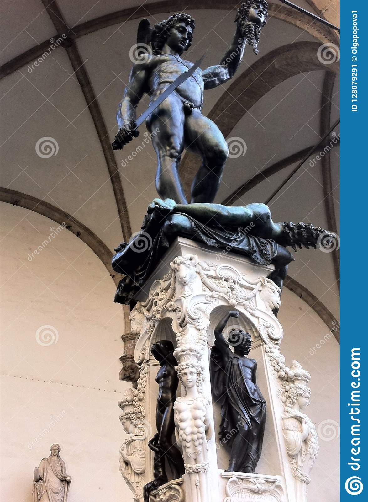 Florence Italy Perseus With The Head Of Medusa Is A Bronze