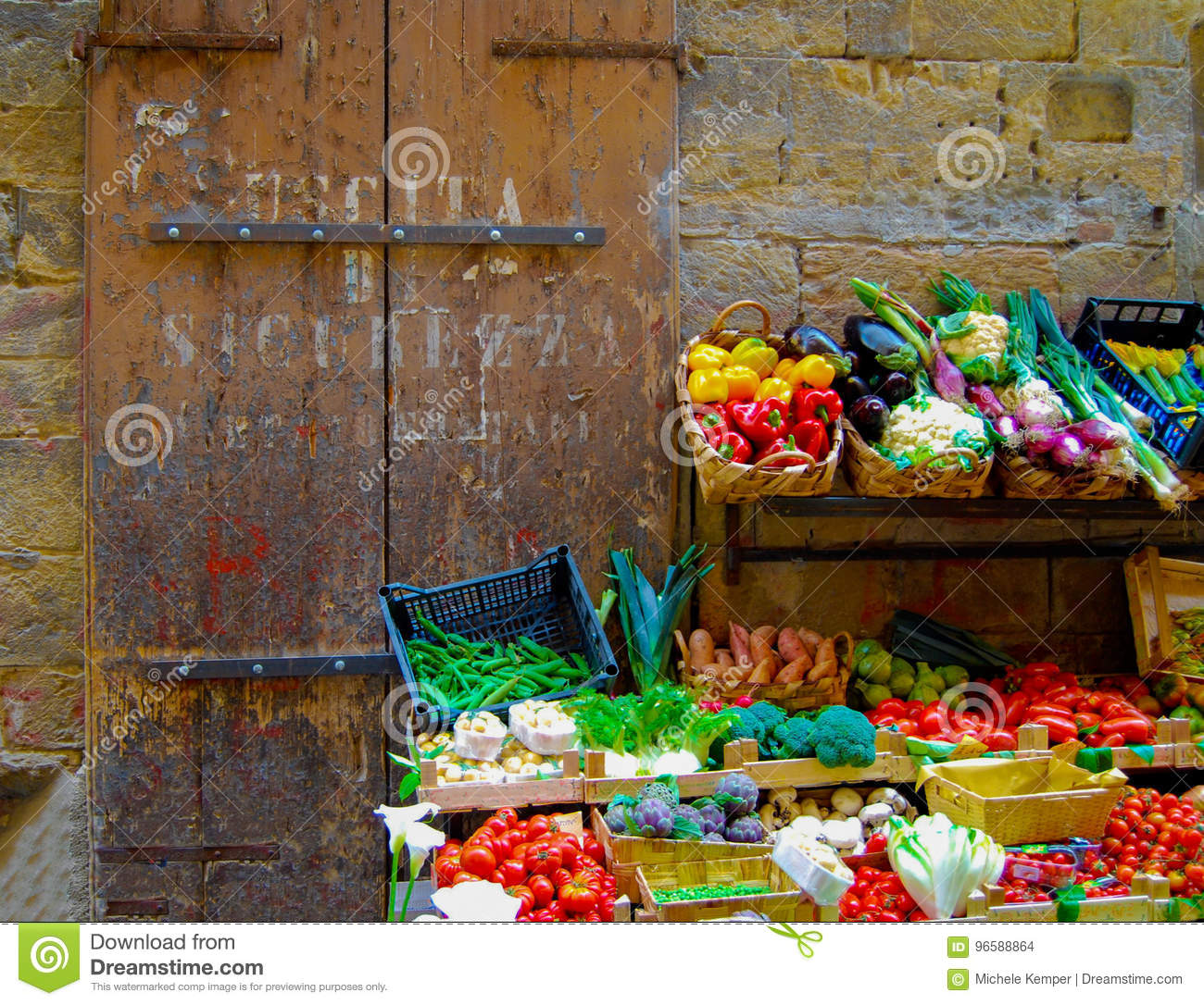 Florence Italy Vegetable Stand