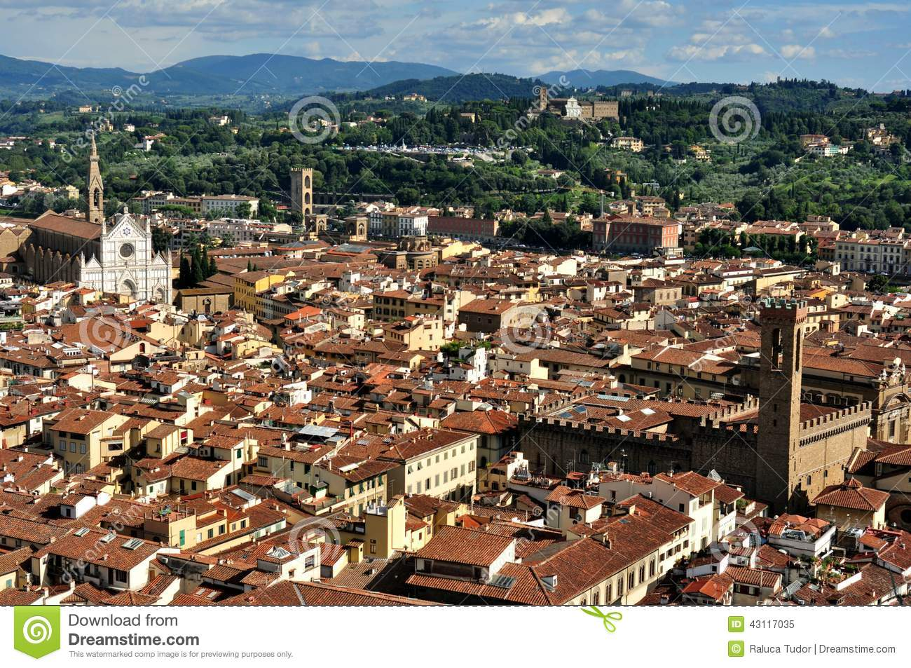 City Of Florence: Florence Roofs In City Center , Italy Stock Image