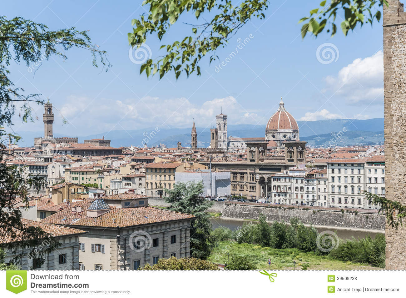 Florence s as seen from Piazzale Michelangelo, Italy
