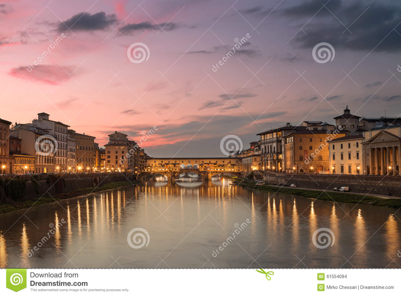 Download Florence's sunset stock photo. Image of urban, sundown - 61554094