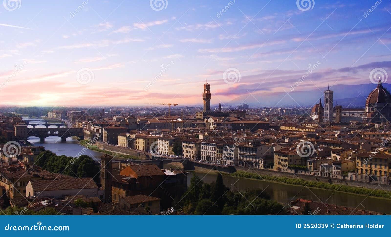 Florence solnedgång