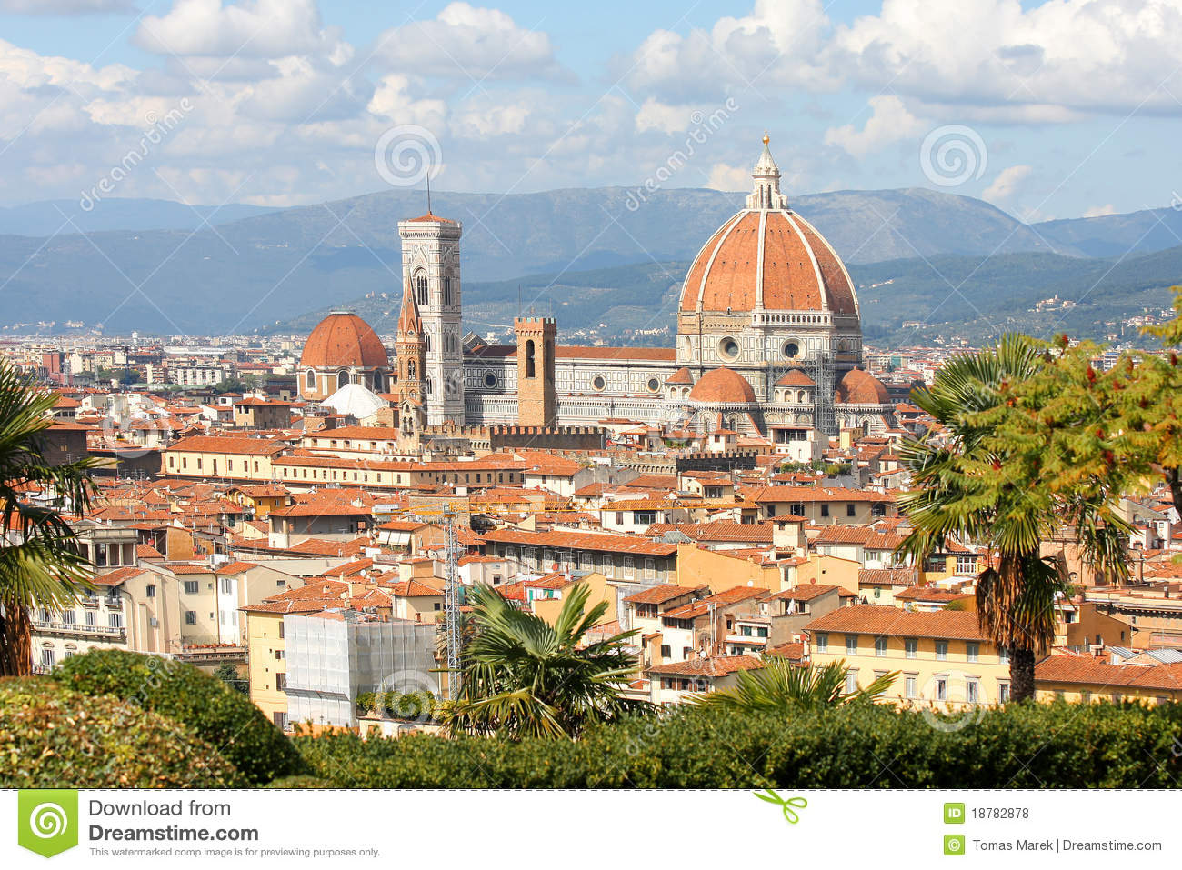 Florence in spring time tuscany italy royalty free stock for Is florence in tuscany