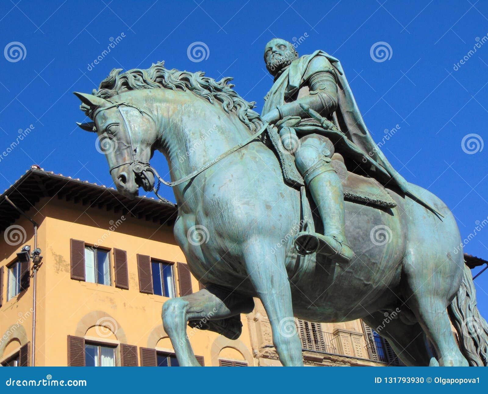 """Florence Tuscany Italy, monumento di Cosimo de """"Medici, quadrato di Signoria"""