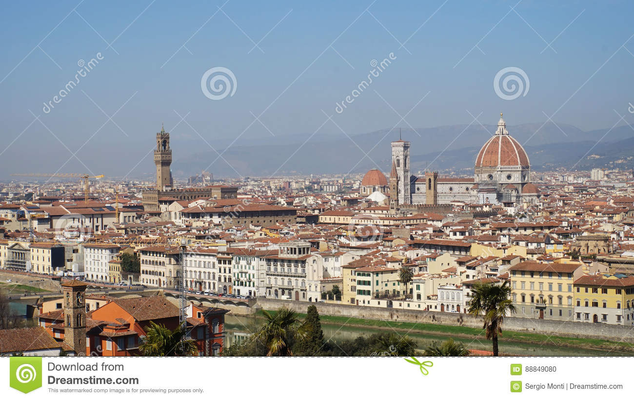 Italian Florence: Florence, View From Piazzale Michelangelo Balcony