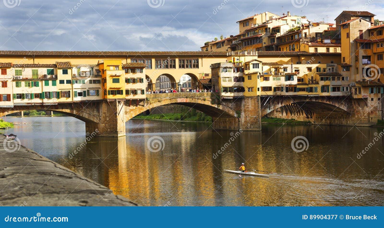 Florence Włoch ponte vecchio