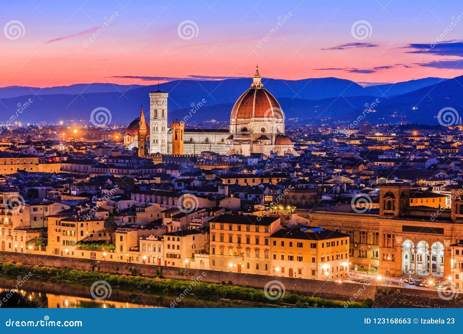 Florence Włochy Widok Katedralny Santa Maria Del Fiore