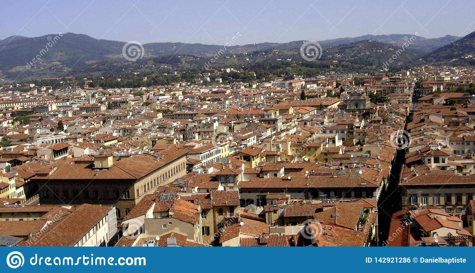 Florencja, panoramiczny widok miasto Florence, Tuscany, Italy