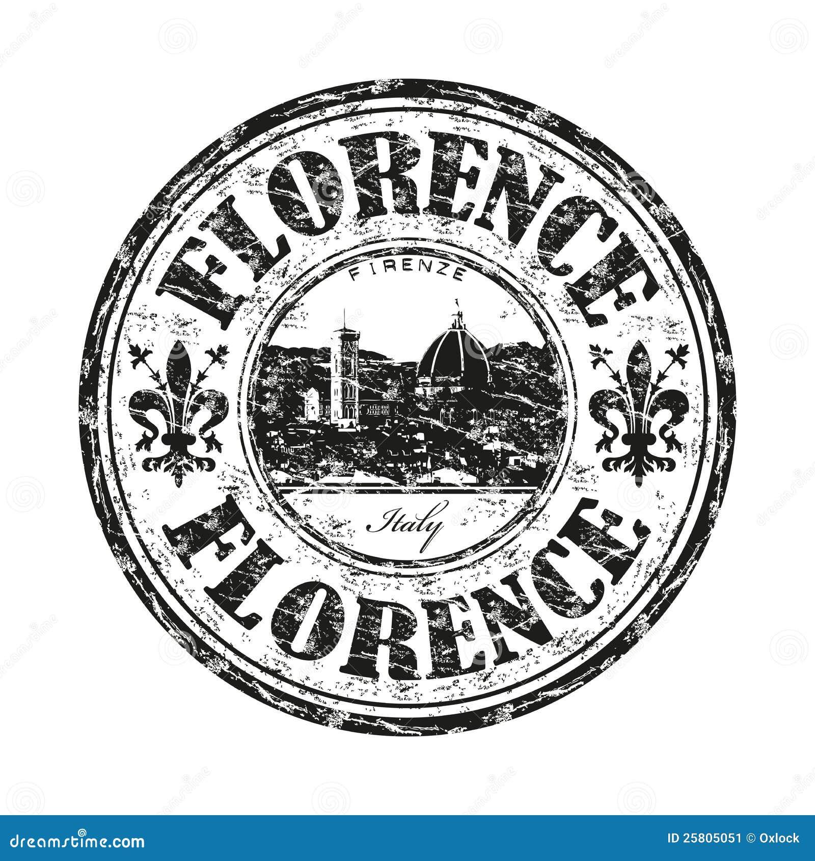 Florenz grunge Stempel