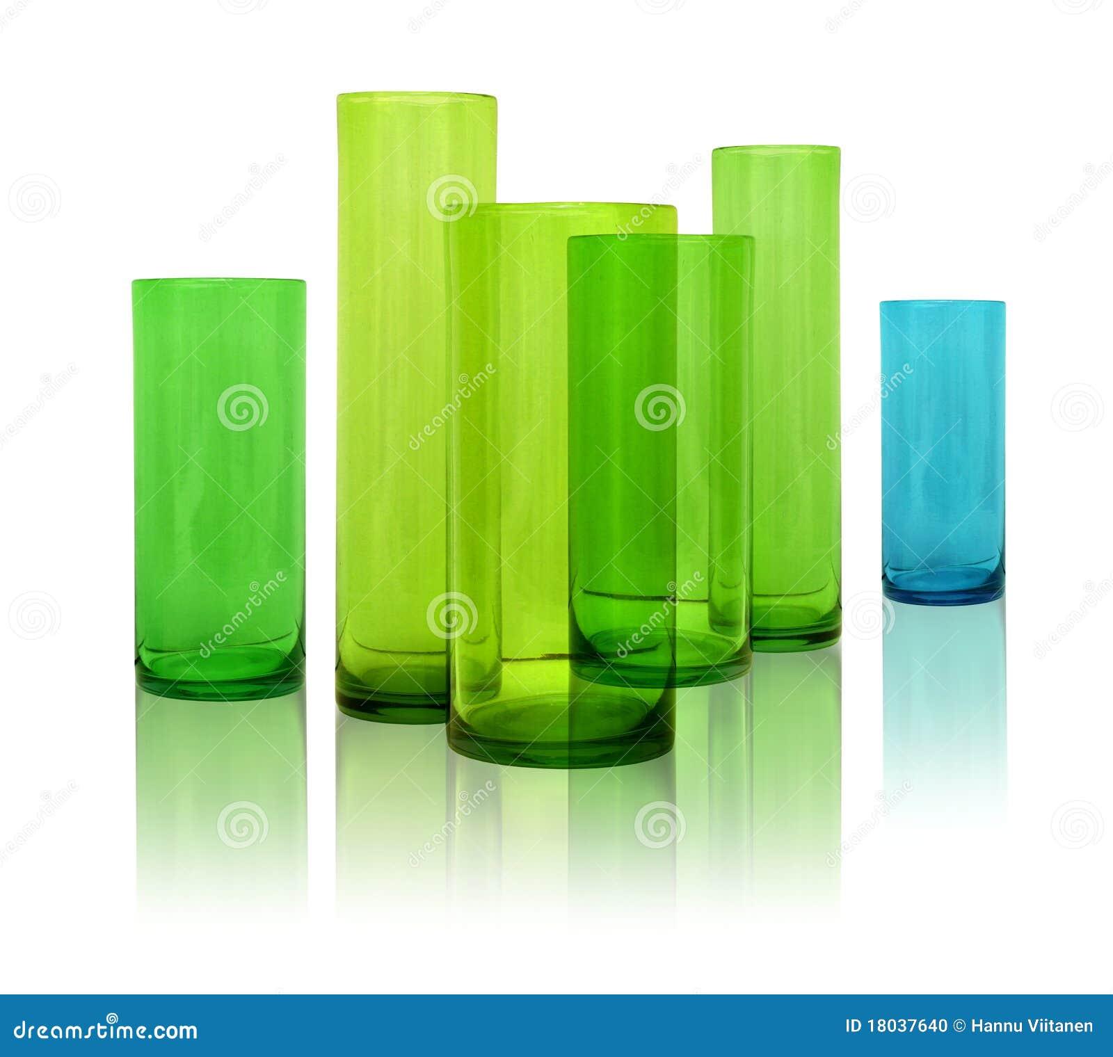 Floreros de cristal modernos foto de archivo imagen - Floreros modernos ...