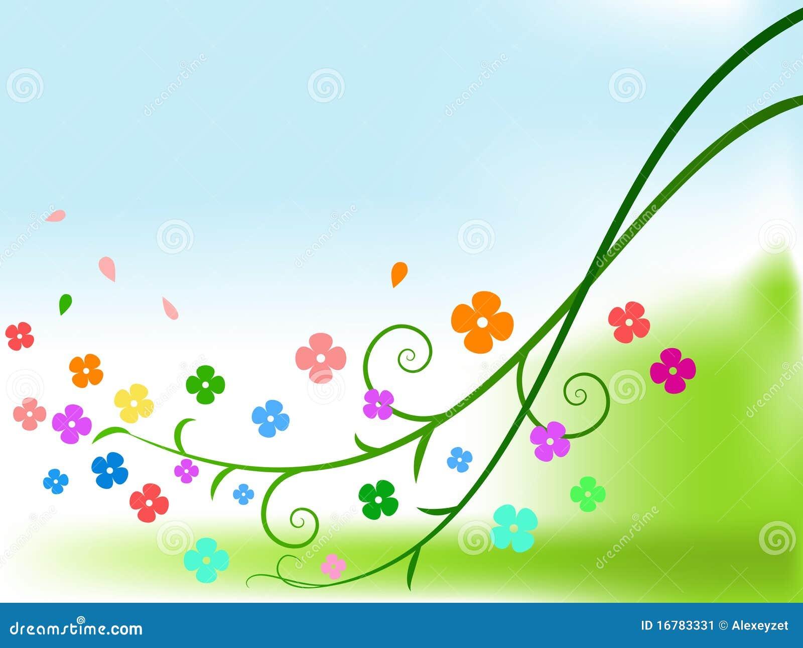Flores abstractas del color con las ramificaciones rizadas for Imagenes abstractas 3d