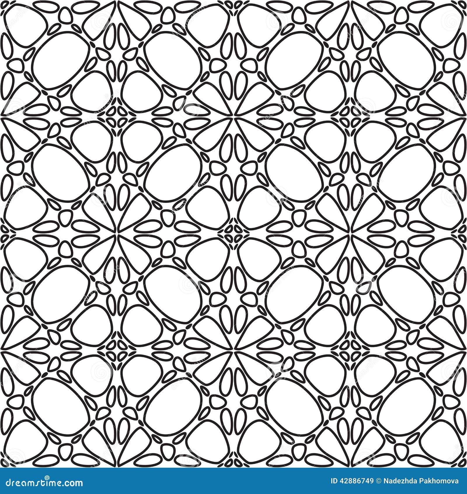 Flores Abstratas Para Colorir Ilustracao Do Vetor Ilustracao De